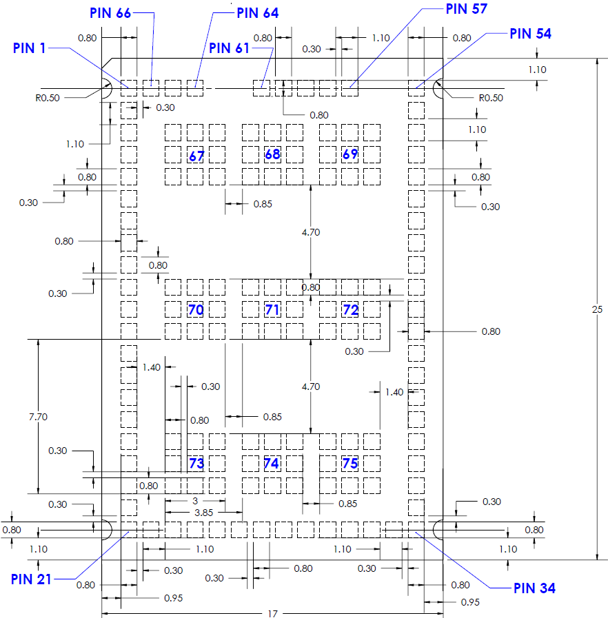 Pcb Footprint Dimensions Xpico 200 Series Design Notes Full Specs And Recommended Reference Designs Can Be